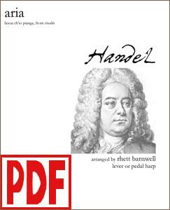 Lascia ch'io pianga Aria by Handel arranged by Rhett Barnwell PDF Download