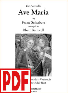 Ave Maria by Schubert arranged by Rhett Barnwell <span class='red'>PDF Download</span>
