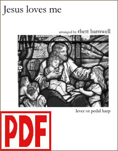 Jesus Loves Me arranged by Rhett Barnwell <span class='red'>PDF Download</span>