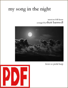 My Song in the Night arranged by Rhett Barnwell <span class='red'>PDF Download</span>