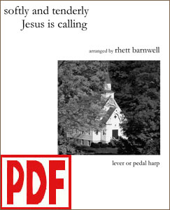 Softly and Tenderly Jesus is Calling arranged by Rhett Barnwell <span class='red'>PDF Download</span>