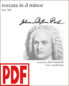 Toccata in D Minor by Bach arranged by Rhett Barnwell <span class='red'>PDF Download</span>