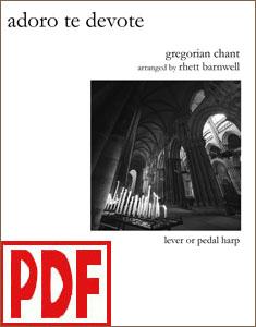 Adoro Te Devote arranged by Rhett Barnwell <span class='red'>PDF Download</span>