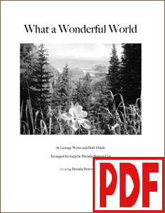 What a Wonderful World arranged by Brenda Bowen Cox <span class='red'>PDF Download</span>