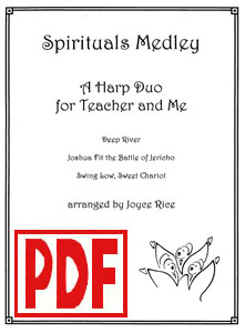 Spirituals Medley for Teacher and Me Duo by Joyce Rice <span class='red'>PDF Download</span>