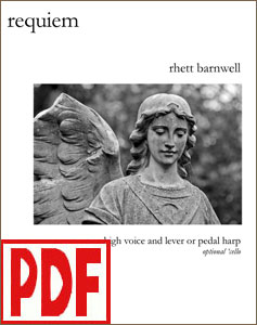 Requiem for harp and high voice by Rhett Barnwell <span class='red'>PDF Download</span>