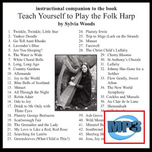 Companion to Teach Yourself to Play the Folk Harp by Sylvia Woods  - mp3 Download
