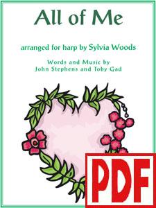 Sylvia Woods Harp Center - Lap Harp Music Books - All of Me
