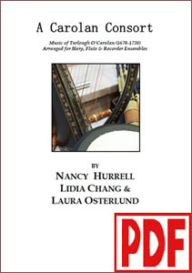 A Carolan Consort for harp, flute, and recorder ensembles by Nancy Hurrell <span class='red'>PDF Download</span>