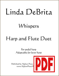 Whispers for harp and flute composed by Linda DeBrita <span class='red'>PDF Download</span>