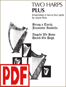 Two Harps Plus - Christmas: Bring a Torch & Angels We Have Heard on High by Joyce Rice <span class='red'>PDF Download</span>