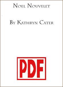 Noel Nouvelet by Kathryn Cater PDF Downloads