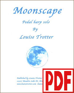 Moonscape by Louise Trotter for Pedal Harp <span class='red'>PDF Download</span>