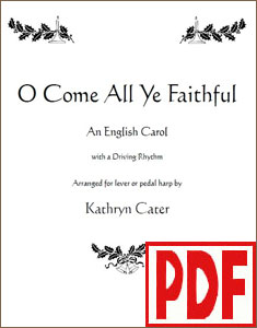 O Come All Ye Faithful by Kathryn Cater <span class='red'>PDF Download</span>