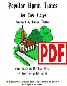 Popular Hymn Tunes for Two Harps by Louise Trotter <span class='red'>PDF Download</span>