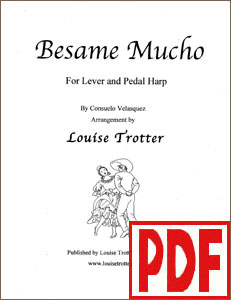 Besame Mucho arranged by Louise Trotter <span class='red'>PDF Download</span>