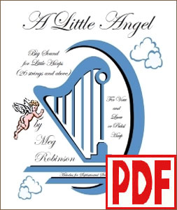 A Little Angel for harp and voice by Meg Robinson <span class='red'>PDF Download</span>