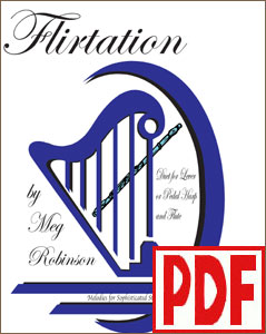 Flirtation for Flute and Harp by Meg Robinson <span class='red'>PDF Download</span>
