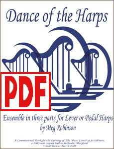 Dance of the Harps for harp ensemble by Meg Robinson <span class='red'>PDF Download</span>