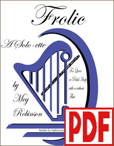 Frolic by Meg Robinson for harp solo or harp and flute <span class='red'>PDF Download</span>