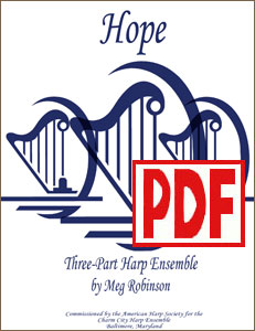 Hope for Harp Ensemble by Meg Robinson <span class='red'>PDF Download</span>