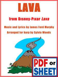 Lava from the Disney Pixar short film arranged by Sylvia Woods