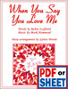 When You Say You Love Me arranged by Sylvia Woods - <span class='red'><strong>PDF Download</strong></span>