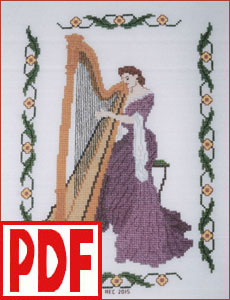 Concerto in Lilac Cross-Stitch <span class='red'>PDF PATTERN</span>