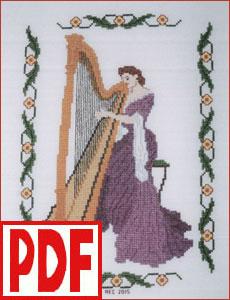 Concerto in Lilac Cross-Stitch PDF PATTERN