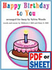 Happy Birthday to You arranged by Sylvia Woods - <span class='red'><b>PDF Download</b></span>