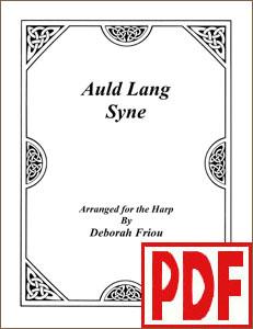 Auld Lang Syne arranged by Deborah Friou PDF Download
