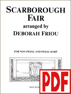 Scarborough Fair arranged by Deborah Friou PDF Download