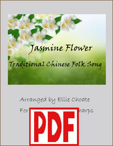 Jasmine Flower for harp duo or ensemble by Ellie Choate PDF Downloads