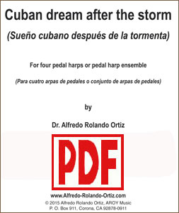Cuban Dream After the Storm for 4 Pedal Harp Ensemble by Alfredo Rolando Ortiz PDF Download
