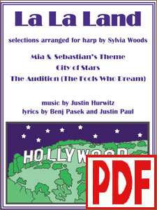 La La Land selections arranged for harp by Sylvia Woods PDF Download