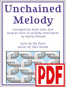 Unchained Melody arranged for harp solo and duet by Sylvia Woods PDF Download