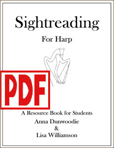 Sightreading for Harp SERIES by Anna Dunwoodie and Lisa Williamson PDF Downloads