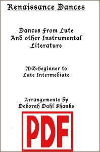 Renaissance Dances by Deborah Dahl Shanks <span class='red'>PDF Downloads</span>