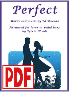 Perfect by Ed Sheeran arranged for harp by Sylvia Woods PDF Download