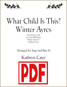 What Child is This? for harp and flute by Kathryn Cater PDF Downloads