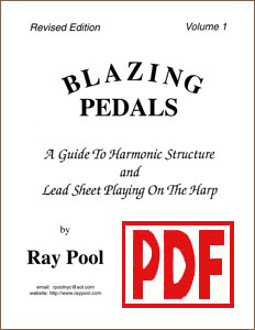 Blazing Pedals #1 for pedal harp by Ray Pool <span class='red'>PDF Download</span>