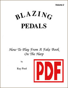 Blazing Pedals #2 for pedal harp by Ray Pool PDF Download
