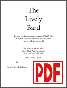 The Lively Bard arranged for harp and flute or violin by Darhon Rees-Rohrbacher PDF Download