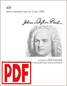 Air on the G String by Bach arranged by Rhett Barnwell  <span class='red'>PDF Download</span>