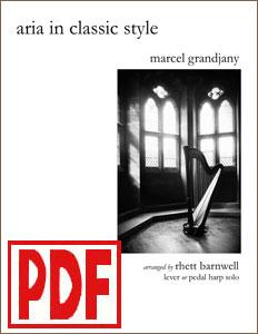 Aria in Classic Style by Marcel Grandjany arranged by Rhett Barnwell  <span class='red'>PDF Download</span>
