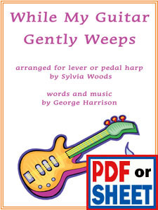 While My Guitar Gently Weeps by George Harrison arranged by Sylvia Woods