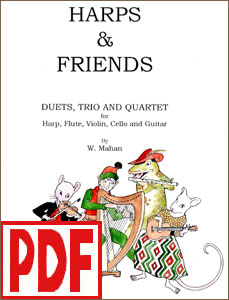 Harps and Friends by William Mahan PDF Download for harp and other instruments