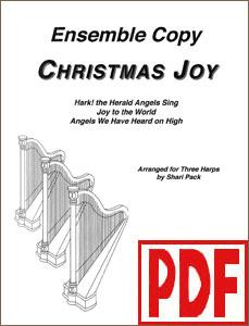 Christmas Joy for harp ensemble by Shari Pack PDF Downloads