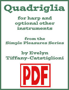 Quadriglia arranged for harp and other instruments by Evelyn Tiffany-Castiglioni <span class='red'>PDF Download</span>