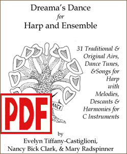Dreama's Dance arranged for harp solo and ensembles by Evelyn Tiffany-Castiglioni and others <span class='red'>PDF Download</span>